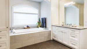 custom bath cabinet painting