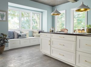 attractive kitchen cabinets with nook